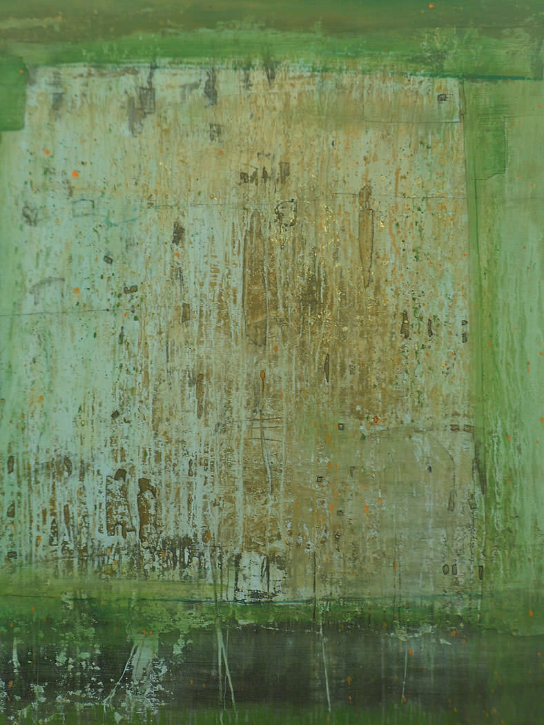 verde 2013 | mixed media | markise 140 x 120 | sold